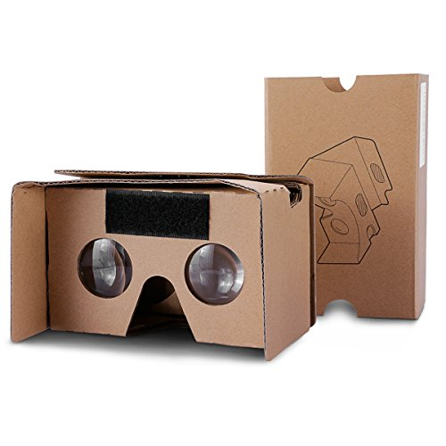 Google Cardboard Topmaxions 3d Vr Virtual Reality Diy Vr Headset For 3d Movies And Games Compatible With Android Apple Up To 6 Inch Easy Setup