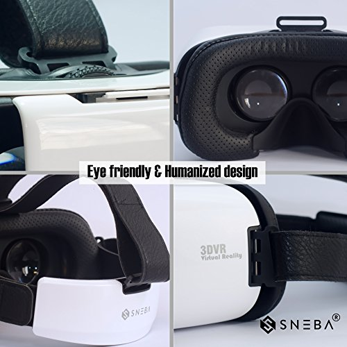 Vr Headset Sneba Black Virtual Reality Headset Vr Glasses For 3d Video Movies Games For Apple Iphone 7 Plus Samsung Huwei Htc More Smartphones